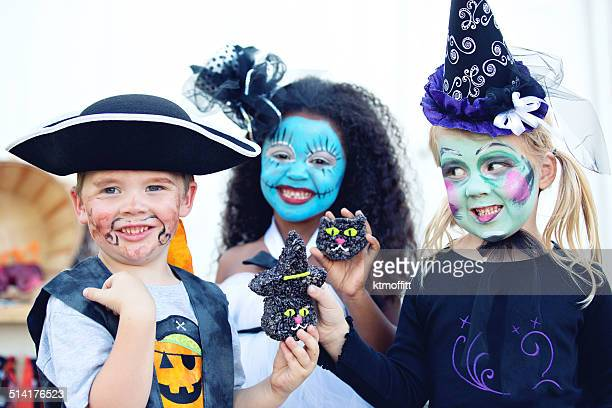 Kids with Treats at Hallween Party
