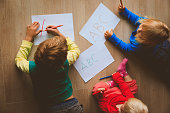 kids write letters, do homework for school or daycare
