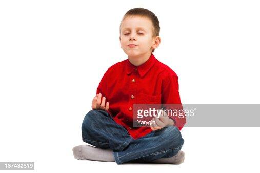 Niños de yoga : Foto de stock