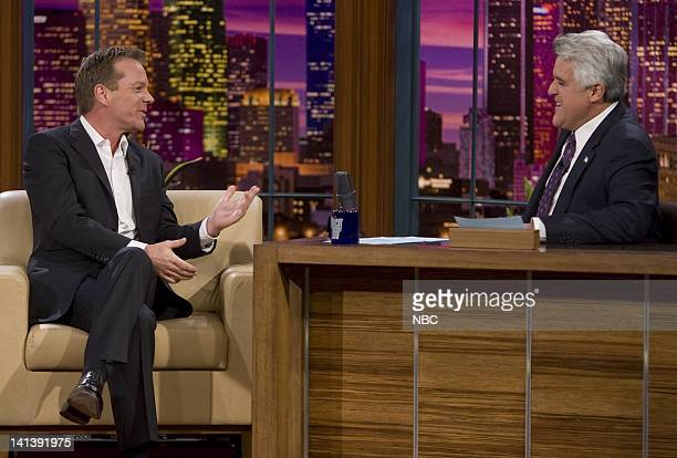 LENO Kiefer Sutherland Air Date Episode 3658 Pictured Actor Kiefer Sutherland during an interview with host Jay Leno on November 17 2008 Photo by...