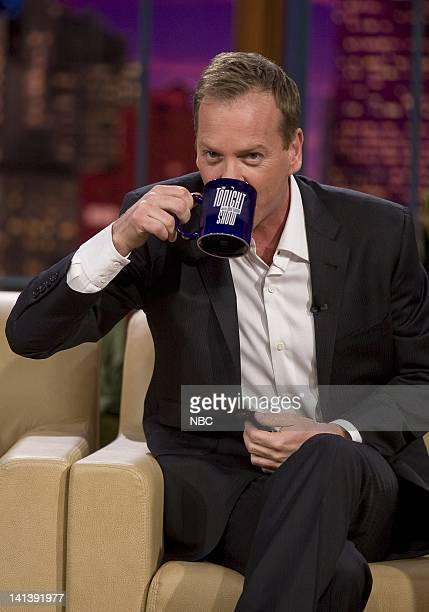 LENO Kiefer Sutherland Air Date Episode 3658 Pictured Actor Kiefer Sutherland during an interview on November 17 2008 Photo by Paul Drinkwater/NBCU...