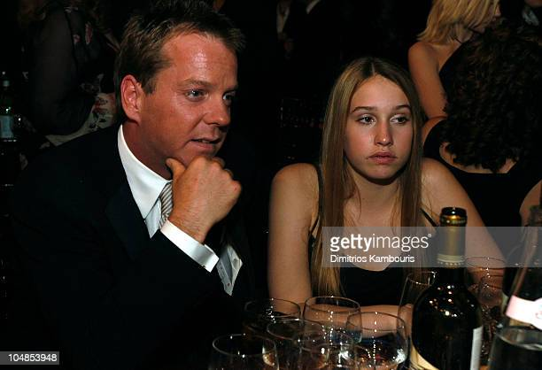 Kiefer Sutherland and daughter Sarah Jude during Ninth Annual Screen Actors Guild Awards Backstage and Audience at The Shrine Auditorium in Los...