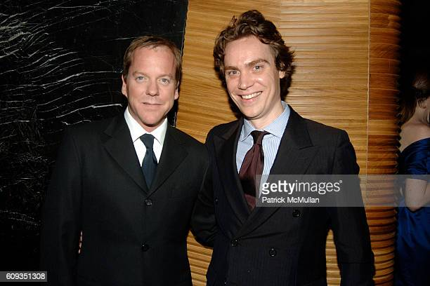 Kiefer Sutherland and Jay Fielden attend MEN'S VOGUE hosts a Private Screening of the Season Premiere of '24' at The Core Club on January 11 2007 in...