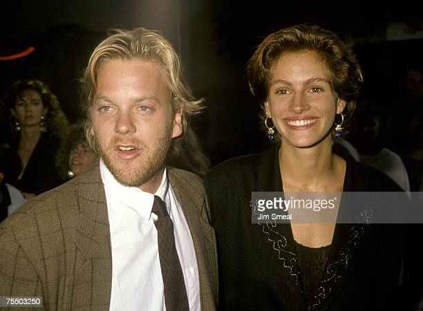 Kiefer Sutherland and Julia Roberts at the Mann's Chinese Theater in Hollywood California
