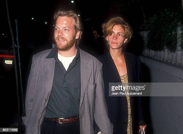 Kiefer Sutherland and Julia Roberts in Los Angeles circa 1990