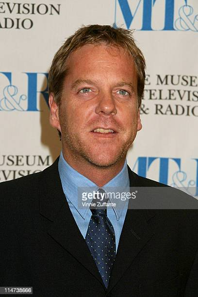 Kiefer Sutherland arriving at the Museum of TV Radio Annual Gala at the Beverly Hills Hotel in LA CA