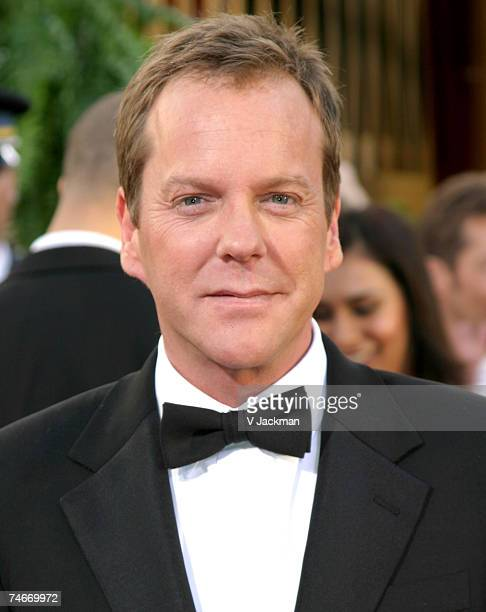 Kiefer Sutherland at the 64th Annual Golden Globe Awards Arrivals at Beverly Hilton Hotel in Beverly Hills California