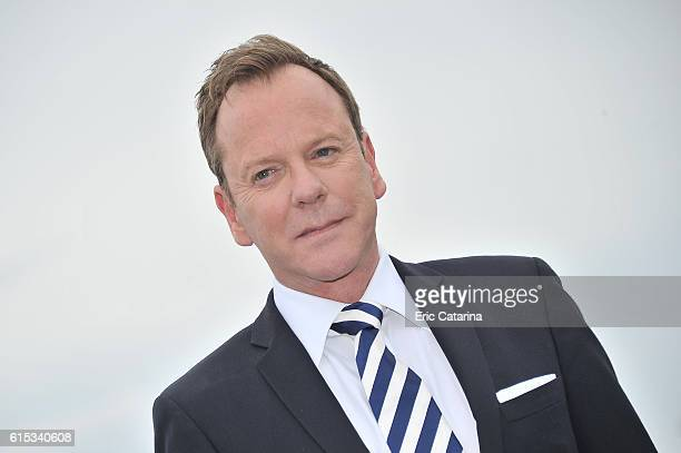 Kiefer Sutherland attends the Designated Survivor photocall during MIPCOM 2016 at Palais des Festivals on October 17 2016 in Cannes France