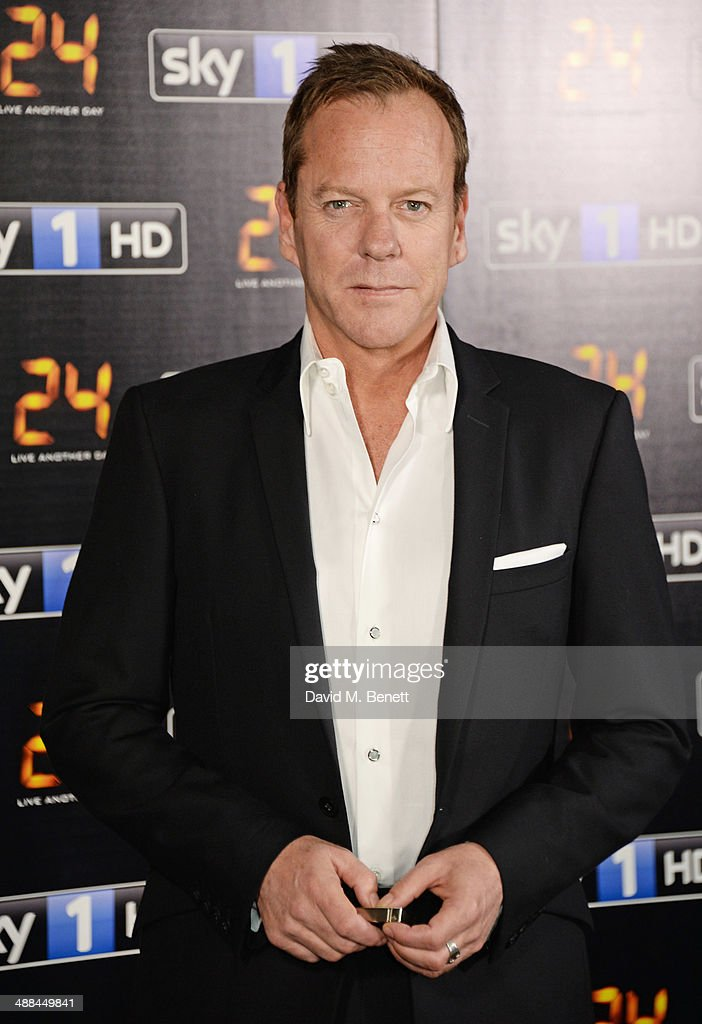 Kiefer Sutherland attends the UK premiere of '24: Live Another Day' at Old Billingsgate Market on May 6, 2014 in London, England.