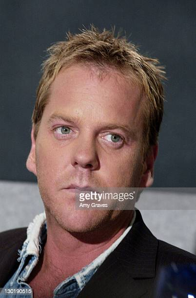 Kiefer Sutherland during 2002 Toronto Film Festival 'Phone Booth' Press Conference at Four Seasons Hotel in Toronto Ontario Canada