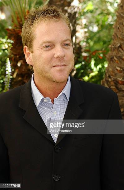 Kiefer Sutherland during '24' 3rd Season Press Conference with Kiefer Sutherland at Four Seasons Hotel in Beverly Hills California United States
