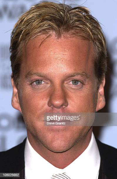 Kiefer Sutherland during The 59th Annual Golden Globe Awards Press Room at Beverly Hilton Hotel in Beverly Hills California United States