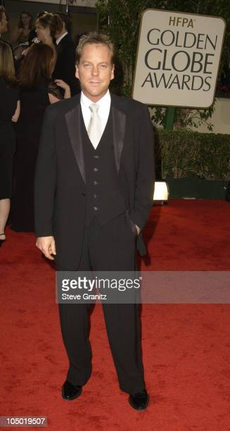 Kiefer Sutherland during The 60th Annual Golden Globe Awards Arrivals at The Beverly Hilton Hotel in Beverly Hills California United States