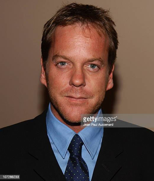 Kiefer Sutherland during The Museum of Television and Radio Honors CBS News's Dan Rather and 'Friends' Producing Team Inside at Beverly Hills Hotel...