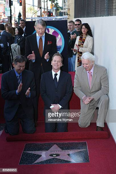 Kiefer Sutherland honored with a star on The Hollywood Walk Of Fame on December 9 2008 in Hollywood California