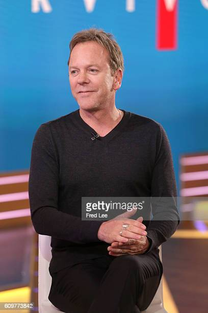 AMERICA Kiefer Sutherland is a guest on 'Good Morning America' 9/21/16 airing on the ABC Television Network {Photo by Fred Lee/ABC via Getty Images...