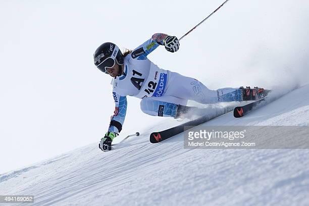 Kieffer Christianson of the USA in action during the Audi FIS Alpine Ski World Cup Men's Giant Slalom on October 25 2015 in Soelden Austria