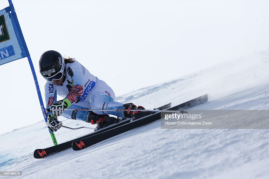 Kieffer Christianson of the USA in action during the Audi FIS Alpine Ski World Cup Men's Giant Slalom on October 25 2015 in Soelden Austria