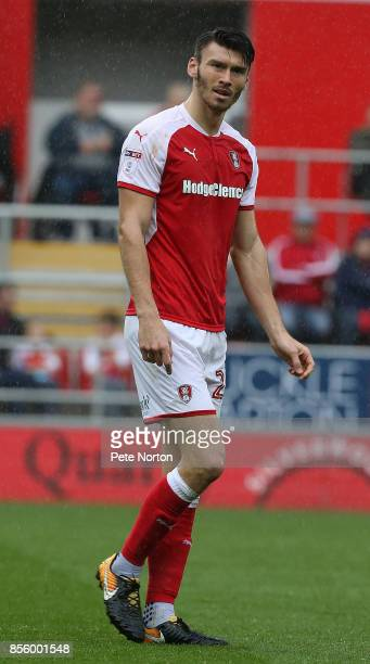 Kieffer Moore of Rotherham United in action during the Sky Bet League One match between Rotherham United and Northampton Town at The Aesseal New York...