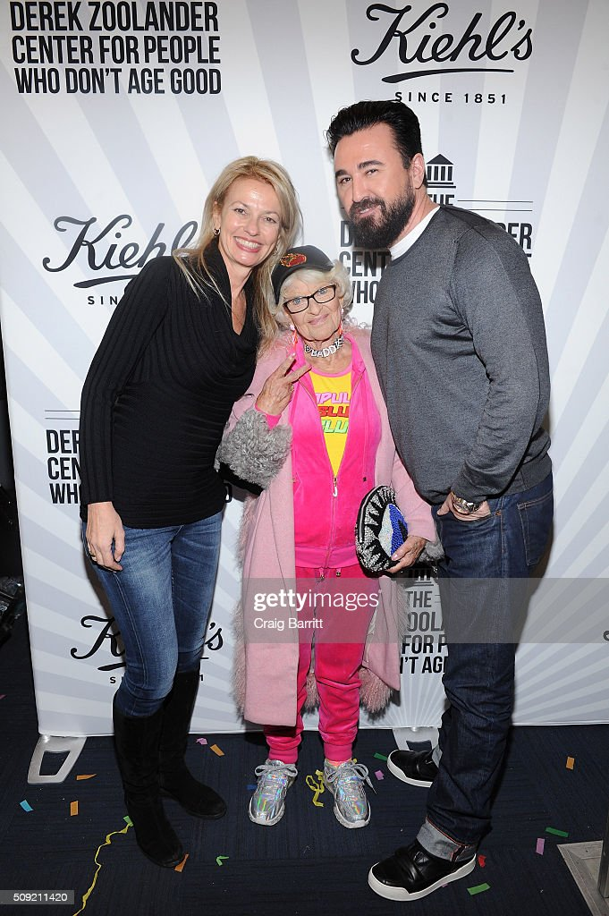 Kiehl's General Manager Worldwide Cheryl Vitali, Baddie Winkle and Kiehl's CEO Chris Salgardo attend Kiehl's Zoolander Center Opening on February 9, 2016 in New York City.