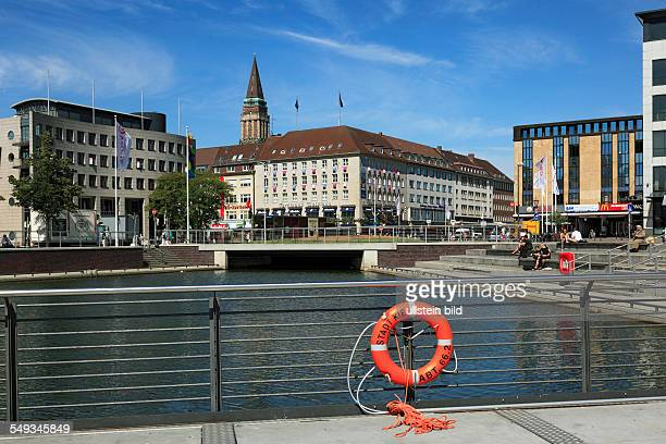 Kiel Berlin place business houses administration buildings city hall tower lifebelt