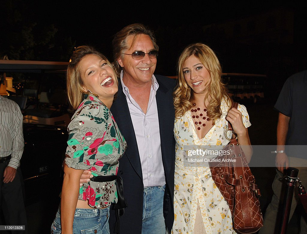 Kiele Sanchez Don Johnson and Lizzy Caplan during The WB's 7th Annual Affiliate Advertiser Fall Launch Party at Warner Bros Studios in Burbank...