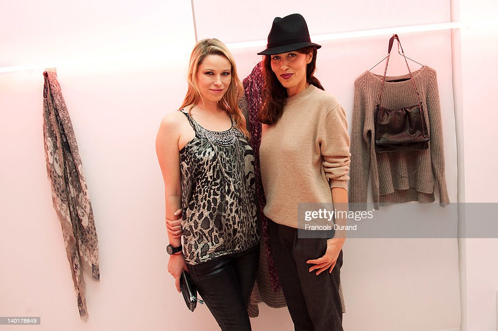 Kiera and Dolores Chaplin attend the Zadig Voltaire ReadyToWear Fall/Winter 2012 cocktail as part of Paris Fashion Week at Gagosian Gallery on...