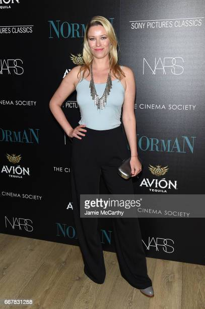 Kiera Chaplin attends a screening of Sony Pictures Classics' 'Norman' hosted by The Cinema Society at the Whitby Hotel on April 12 2017 in New York...