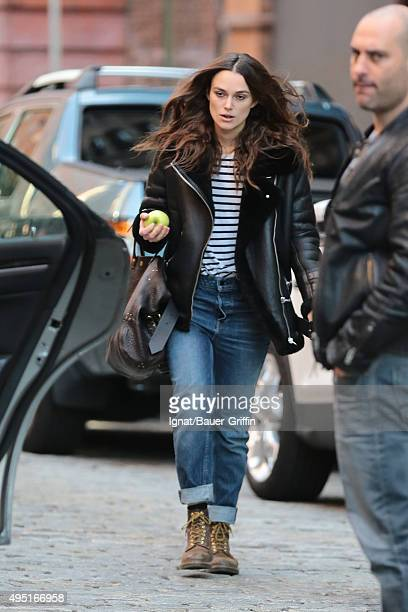 Kiera Knightley is seen on October 31 2015 in New York City