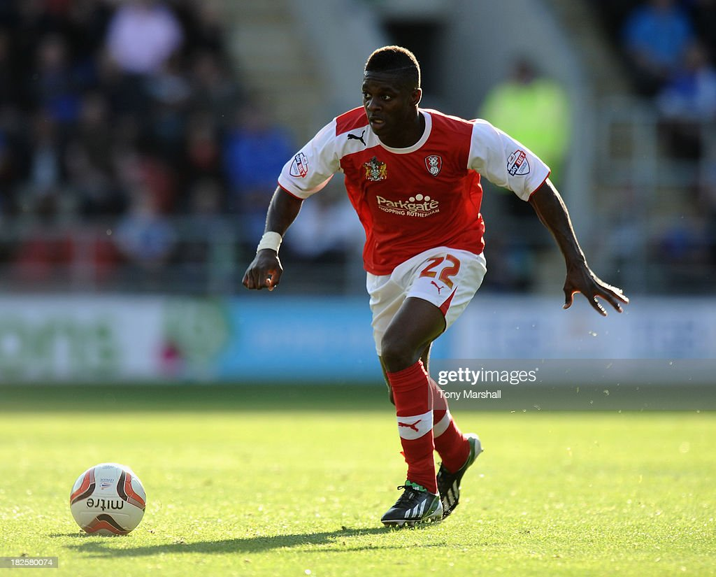 Kieran Agard of Rotherham United during the Sky Bet League One match between Rotherham United and Peterborough United at The New York Stadium on September 28, 2013 in Rotherham, England.
