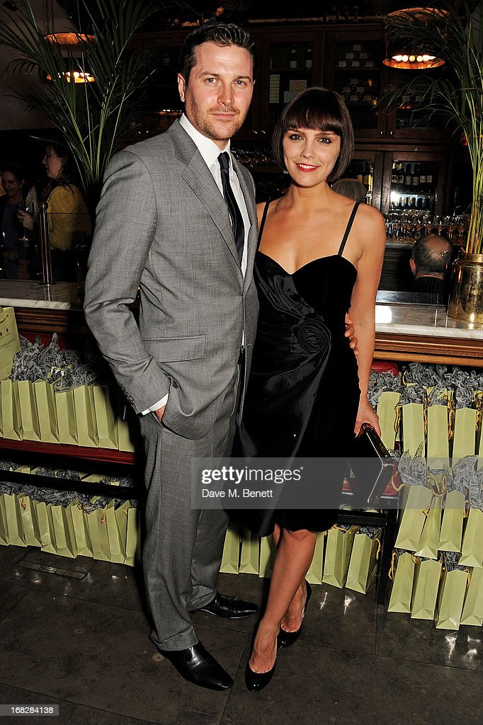Kieran Bew (L) and cast member Annabel Scholey attend an after party following the press night performance of 'Passion Play' at The National Gallery on May 7, 2013 in London, England.