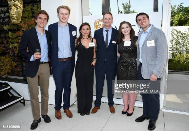 Kieran Breen poses with BAFTA Scholars at the BBC America BAFTA Los Angeles TV Tea Party 2017 at The Beverly Hilton Hotel on September 16 2017 in...