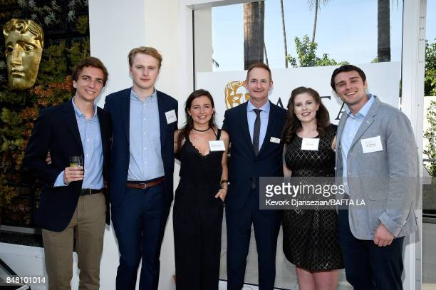 Kieran Breen poses with BAFTA scholarship recipients at the BBC America BAFTA Los Angeles TV Tea Party 2017 at The Beverly Hilton Hotel on September...