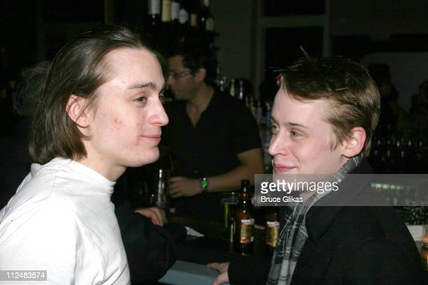 Kieran Culkin and Macaulay Culkin during 'After Ashley' OffBroadway Premiere After Party at Link in New York City New York United States