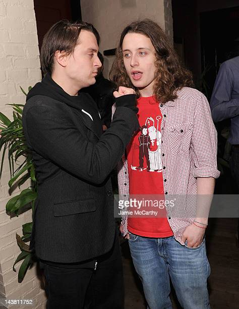 Kieran Culkin and Rory Culkin attend the after party for the Cinema Society Phase 4 Films screening of 'Hick' at Ken Cook on May 3 2012 in New York...