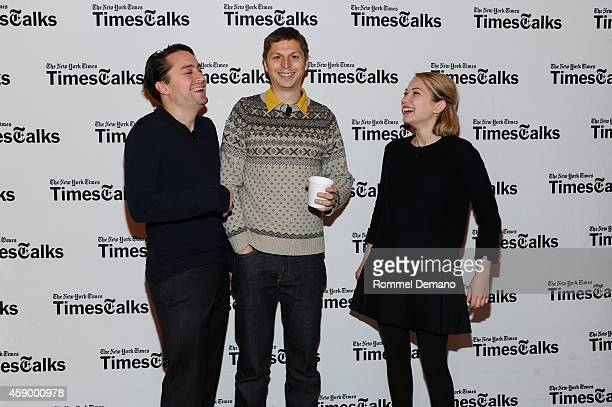 Kieran Culkin Michael Cera and Tavi Gevinson attend the Times Talks Presents An evening with the cast of 'This Is Our Youth' at Times Center on...