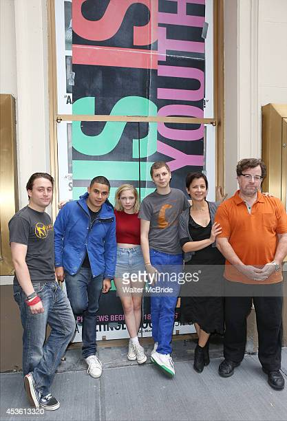 Kieran Culkin Rostam Batmanglij Tavi Gevinson Michael Cera Anna D Shapiro and Kenneth Lonergan attend the 'This is our Youth' Photo Call at the Cort...