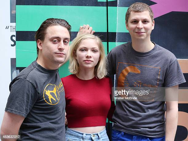 Kieran Culkin Tavi Gevinson and Michael Cera attend the 'This is our Youth' Photo Call at the Cort Theatre on August 14 2014 in New York City