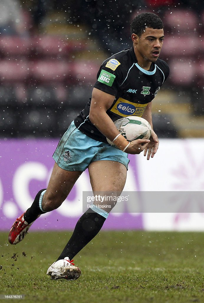 Kieran Dixon of the London Broncos in action during the Super League match between London Broncos and Hull at Twickenham Stoop on March 23, 2013 in London, England.