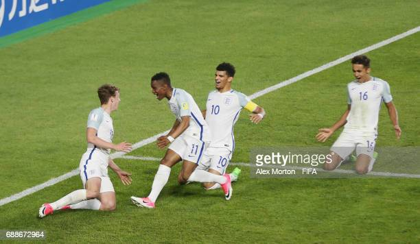 Kieran Dowell of England celebrates after scoring their first goal during the FIFA U20 World Cup Korea Republic 2017 group A match between England...