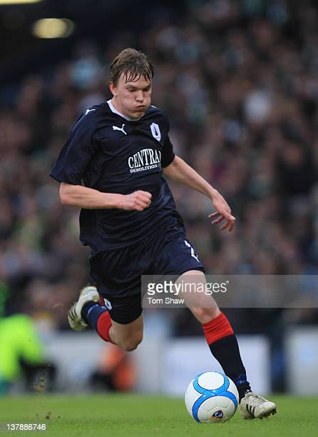 Kieran Duffie of Falkirk in action during the Scottish Communities Cup Semi Final match between Falkirk and Celtic at Hampden Park on January 29 2012...