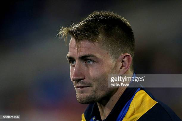 Kieran Foran of the Eels sits on the bench during the round 12 NRL match between the Newcastle Knights and the Parramatta Eels at Hunter Stadium on...