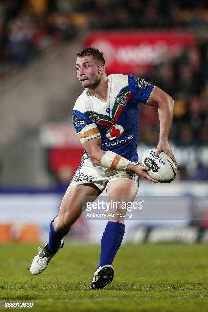 Kieran Foran of the Warriors in action during the round 12 NRL match between the New Zealand Warriors and the Brisbane Broncos at Mt Smart Stadium on...
