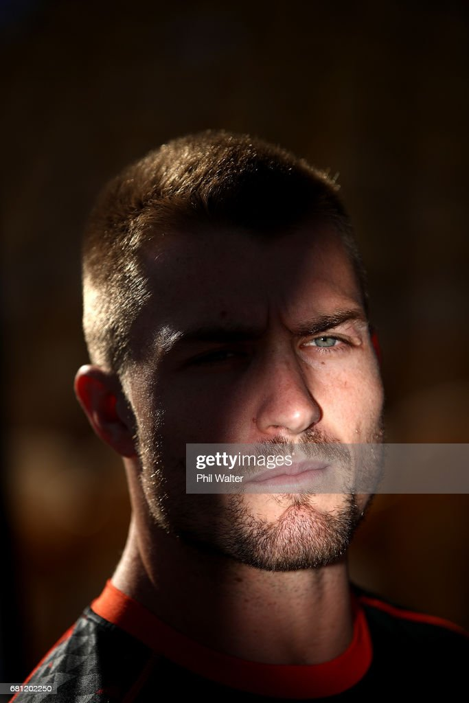 Kieran Foran of the Warriors speaks to media during a New Zealand Warriors NRL media session at Mt Smart Stadium on May 10, 2017 in Auckland, New Zealand.