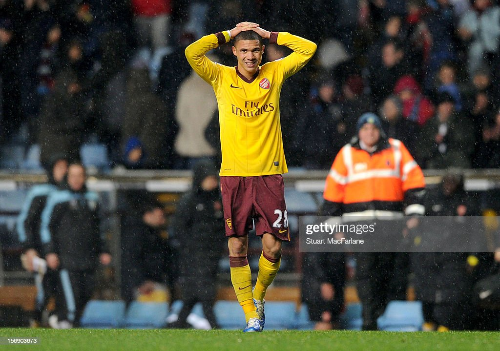 <a gi-track='captionPersonalityLinkClicked' href=/galleries/search?phrase=Kieran+Gibbs&family=editorial&specificpeople=4192585 ng-click='$event.stopPropagation()'>Kieran Gibbs</a> of Arsenal after the Barclays Premier League match between Aston Villa and Arsenal at Villa Park on November 24, 2012 in Birmingham, England.