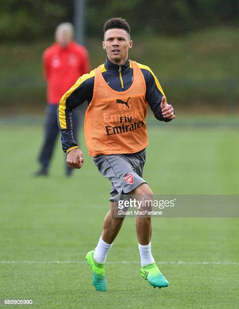 Kieran Gibbs of Arsenal during a training session at London Colney on May 20 2017 in St Albans England