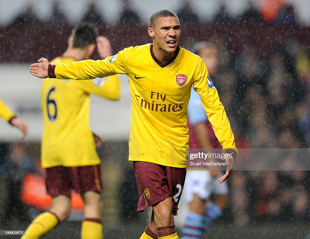 <a gi-track='captionPersonalityLinkClicked' href=/galleries/search?phrase=Kieran+Gibbs&family=editorial&specificpeople=4192585 ng-click='$event.stopPropagation()'>Kieran Gibbs</a> of Arsenal during the Barclays Premier League match between Aston Villa and Arsenal at Villa Park on November 24, 2012 in Birmingham, England.