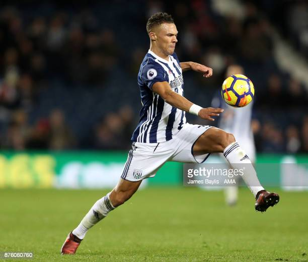 Kieran Gibbs of West Bromwich Albion during the Premier League match between West Bromwich Albion and Chelsea at The Hawthorns on November 18 2017 in...