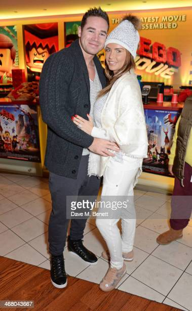 Kieran Hayler and Katie Price attend a VIP screening of 'The Lego Movie' at the Vue West End on February 9 2014 in London England