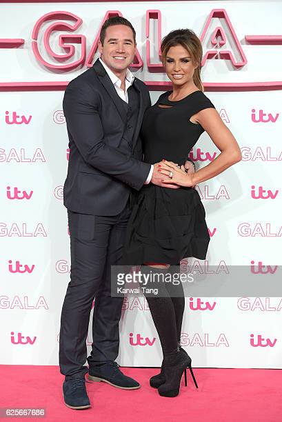 Kieran Hayler and Katie Price attend the ITV Gala at London Palladium on November 24 2016 in London England
